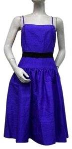 Watters short dress Purple Dupioni Silk on Tradesy