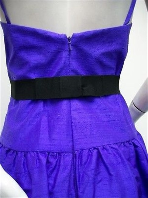 Watters short dress Purple Dupioni Silk Belted Gathered Party 3476 on Tradesy