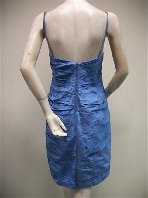 Watters short dress Blue Peony Spaghetti Strap Silk French 2415 on Tradesy