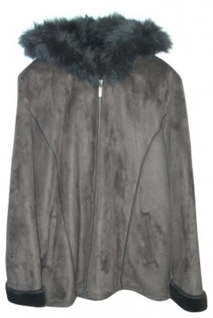 Preload https://img-static.tradesy.com/item/31477/centigrade-brown-faux-suede-and-with-zipper-and-ho-fur-coat-size-14-l-0-0-650-650.jpg