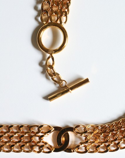 Chanel Vintage Chanel metal link belt with CC logo- Fall 1997