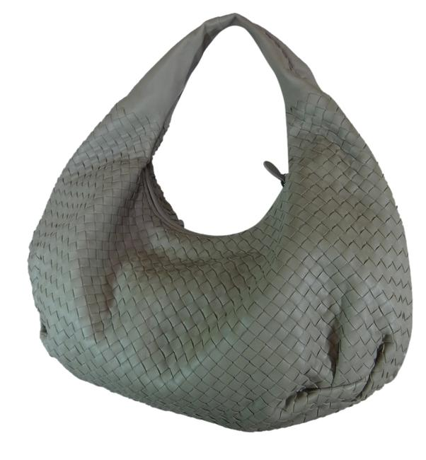 Item - Stone Intrecciato Large Belly Gray Leather Hobo Bag