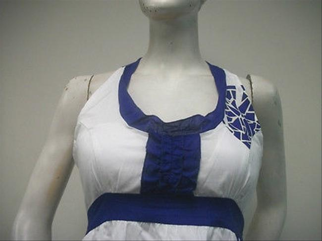 Tracy Negoshian short dress Multi-Color Royal Blue White 100 Cotton Emma Mini Racer Back on Tradesy