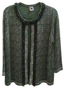 M Missoni Green, Black, with silver tread Jacket