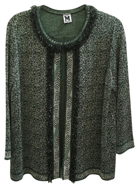 Preload https://item1.tradesy.com/images/m-missoni-green-black-with-silver-tread-spring-jacket-size-12-l-3148060-0-0.jpg?width=400&height=650