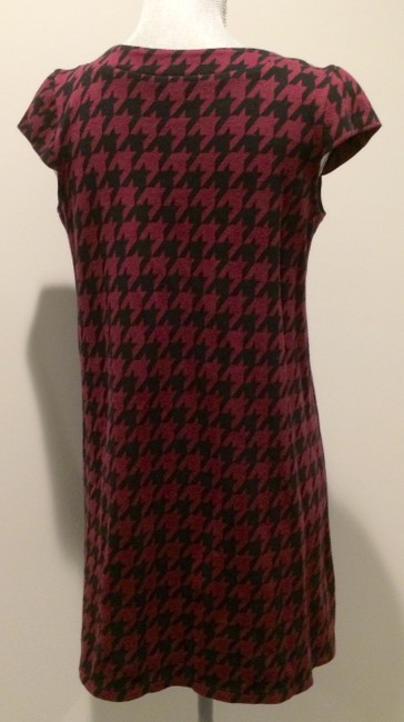 Xhilaration short dress Cranberry & Black Houndstooth on Tradesy
