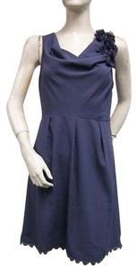 Esley Sleeveless Cowl Neck Smoked Lace Hem Style Dress