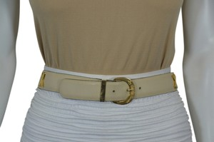 Paloma Picasso PALOMA PICASSO FRENCH FASHION DESIGNER GENUINE LEATHER BEIGE BELT SIZE S ON SALE