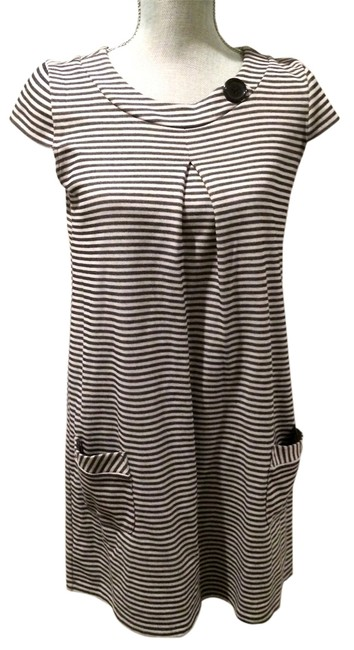 Xhilaration short dress Gray & Black Striped on Tradesy
