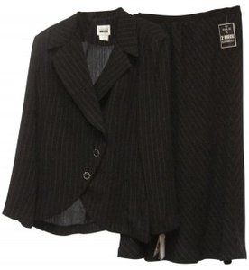 Casual Corner BLACK TUXEDO JACKET W/ LONG SKIRT