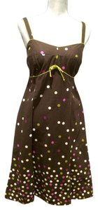 R&K Originals short dress Brown with polka dots Dot on Tradesy