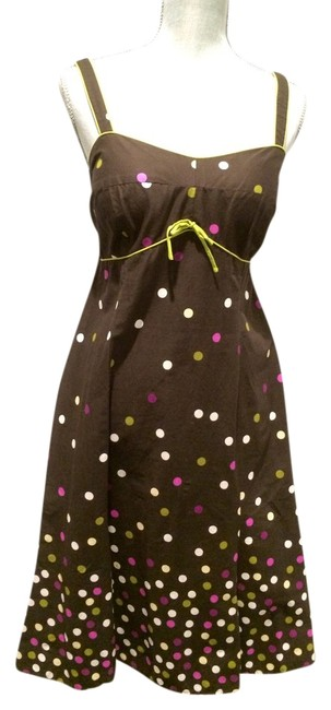 Preload https://item1.tradesy.com/images/r-and-k-originals-brown-with-polka-dots-121544jp-knee-length-short-casual-dress-size-10-m-3149590-0-0.jpg?width=400&height=650