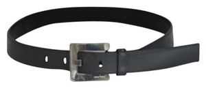 Miu Miu MIU MIU DESIGNER GRAY LEATHER BELT SIZE 30 ON SALE
