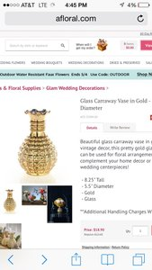 Mercury Glass Gold Vases And Votives