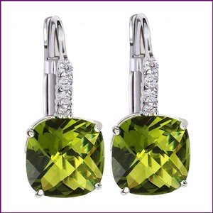 Other Green Earrings Cubic Zircon Crystal Dangle Crystal Earrings 18k Silver Plated Dangle Earrings Bridesmaid Gift Weddings