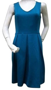 Miss Sixty short dress Peacock M60 Sleeveless Box Pleated Skirt on Tradesy