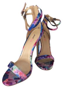 JustFab Pink and blue (floral) Sandals