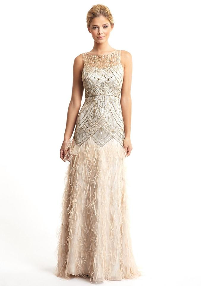 Sue Wong Champagne and Silver Polyester Nylon Gatsby Style 1920\'s ...