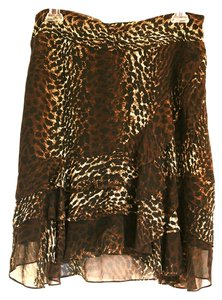 Express Leopard Silk Leopard Print Skirt Animal Print