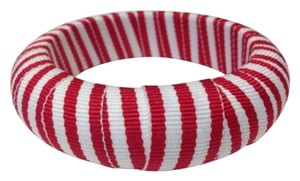 Other Gameday Bangles Red White Striped Ribbon Narrow Bangle Bracelet 34