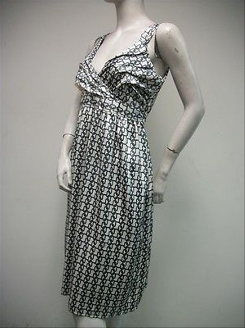 Other short dress Multi-Color Pretty Pink Sash Belted Chain Printed Empire White Gray Black on Tradesy