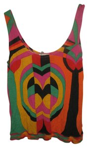 Rayon Made In Italy Top Multicolor