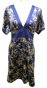 Xhilaration short dress Royal Blue/Gold/Silver on Tradesy