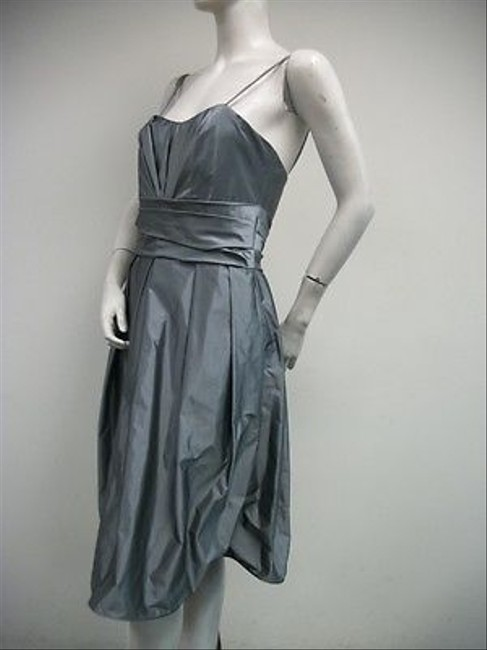 Watters short dress Grays Angle Pleated Formal Pewter Sheen 9612 on Tradesy
