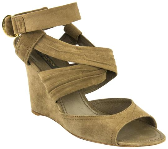 Preload https://item5.tradesy.com/images/louis-vuitton-taupe-wrap-around-wedges-size-eu-41-approx-us-11-regular-m-b-3154909-0-3.jpg?width=440&height=440