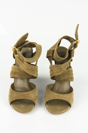 Louis Vuitton Taupe Wedges