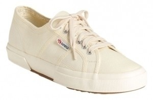Superga Cotu Classic Sneaker Sneaker Canvas Tennis Nautical Ecru Athletic