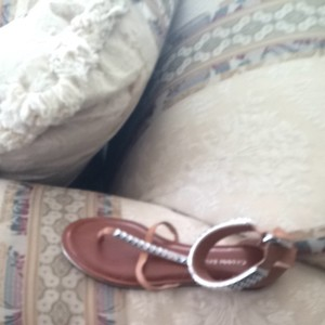Other Brown With Sliver Stubs Sandals