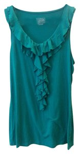 Merona Sleeveless Ruffle Top green