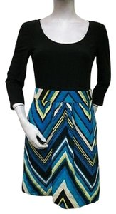 Miss Sixty M60 Blue Chevron Combo Mx318661 34 Sleeve Dress