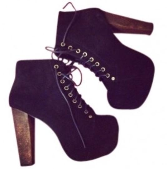 Jeffrey Campbell black suade Boots