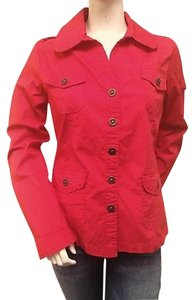 Keren Hart Keren Hart Red Jacket Cotton Blend Button Tab Cuff Kh62029nj
