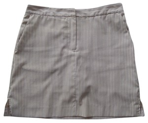 Izod Skort Beige and White Striped