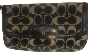 Coach Wristlet in Black And Grey