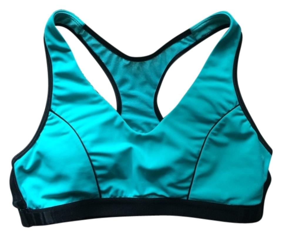 34fb283c36a Balance Collection by Marika Supportive Teal Running Medium Workout  Activewear Sports Bra