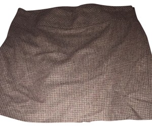 The Limited Skirt Black And Brown Houndstooth