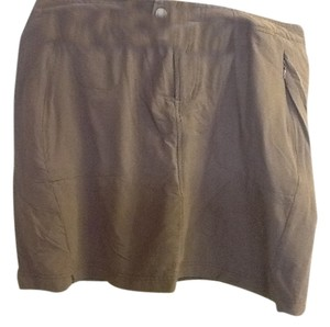 Columbia Comfortable Summer Reflective Hiking Skort Dark Brown