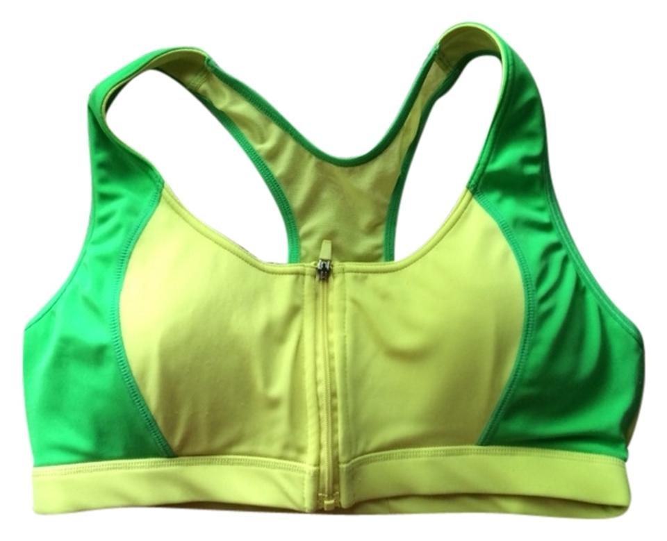 80285ce2cb9 Balance Collection by Marika Active Yellow Green Supportive Running  Activewear Sports Bra