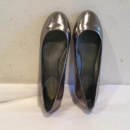 Cole Haan Shoebox Gunmetal leather leather lining NikeAir with box new Flats
