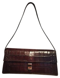 Furla Croc-embossed Baguette Shoulder Bag