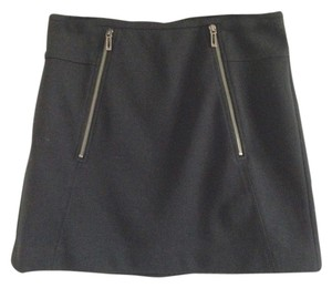 Vince Zipper Mini Skirt Black