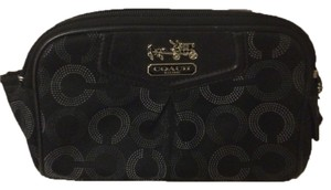 Coach Coach Cosmetic Canvas And Leather