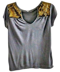 Old Navy Hardware Embellished Top grey-gold