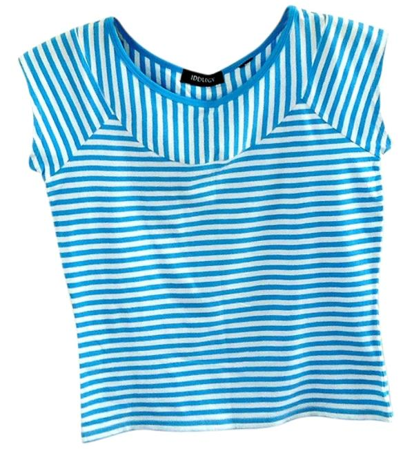 Preload https://item5.tradesy.com/images/ideology-blue-white-tee-shirt-size-4-s-3159154-0-0.jpg?width=400&height=650