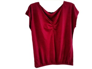 Gap Embellished Cotton Modal Top burgundy