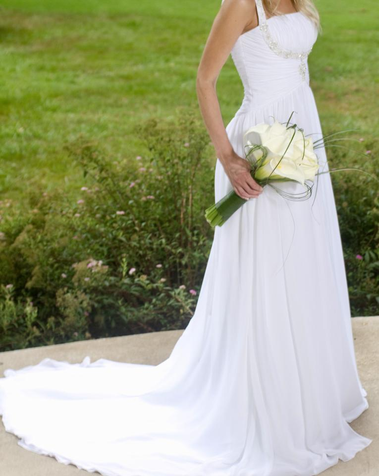 White chiffon with gown 2012 70073 feminine wedding dress for Do dry cleaners steam wedding dresses